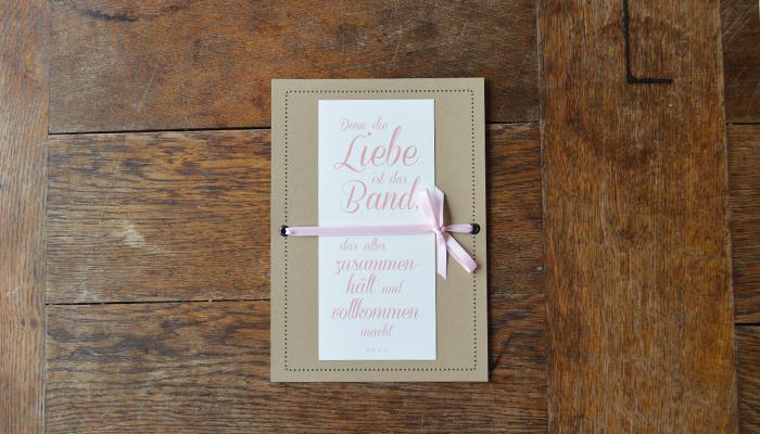 """Hochzeitspapeterie """"Die Liebe ist das Band"""""""